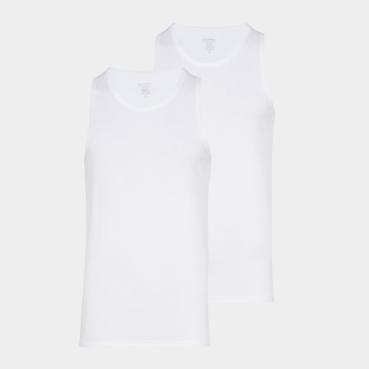 Image of   2 hvide bambus tank top
