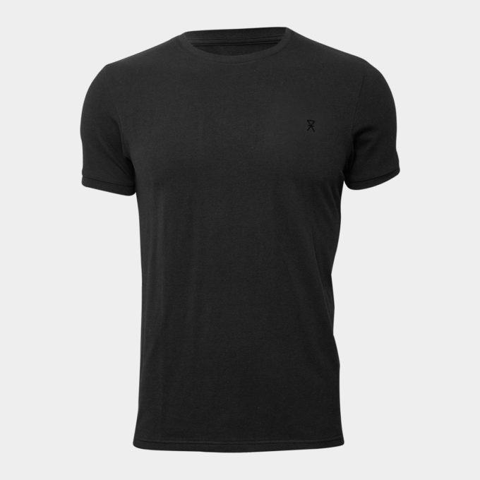 Sort Basic T-shirt i Bambus