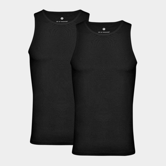 2 par sort tank top i bambus